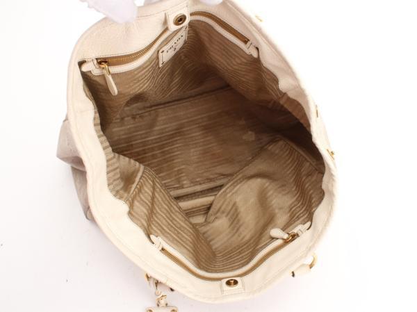 1円 プラダ イタリア製 ショルダー トート バッグ メンズ レディ―ス ビジネス レザー A4 通勤 鞄 ハンド 革 本革 書類 ブリーフケース 803_画像9