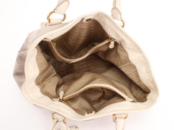 1円 プラダ イタリア製 ショルダー トート バッグ メンズ レディ―ス ビジネス レザー A4 通勤 鞄 ハンド 革 本革 書類 ブリーフケース 803_画像10