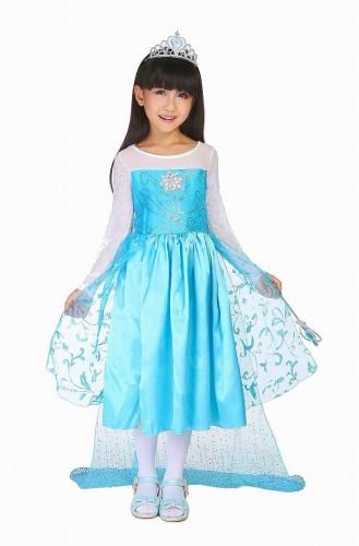 子供 キッズ アナと雪の女王 コスプレ ブルー 110-120【 同梱可能 | 即納】 ディズニーグッズの画像