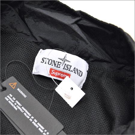 SUPREME シュプリーム×Stone Island ジャケット ブラック 黒 S_ISLAND Nylon Metal Track Jacket
