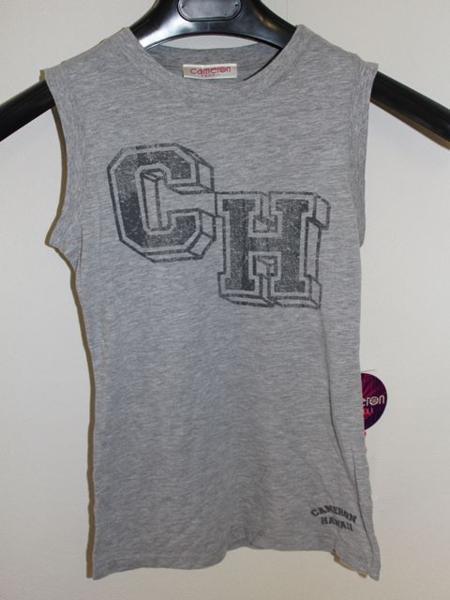 キャメロンハワイ Cameron Hawaii レディースノースリーブTシャツ グレーSサイズ 新品_画像1