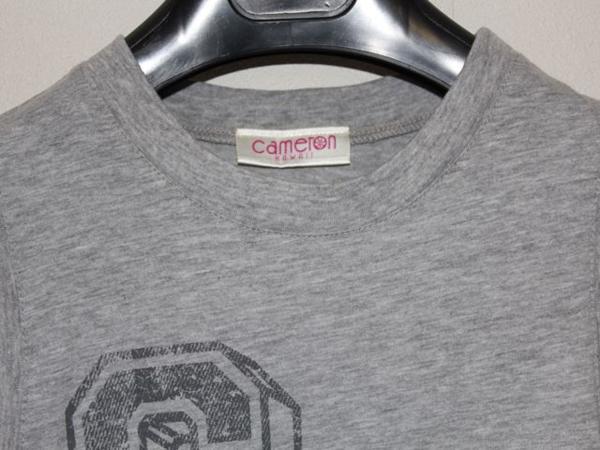 キャメロンハワイ Cameron Hawaii レディースノースリーブTシャツ グレーSサイズ 新品_画像4