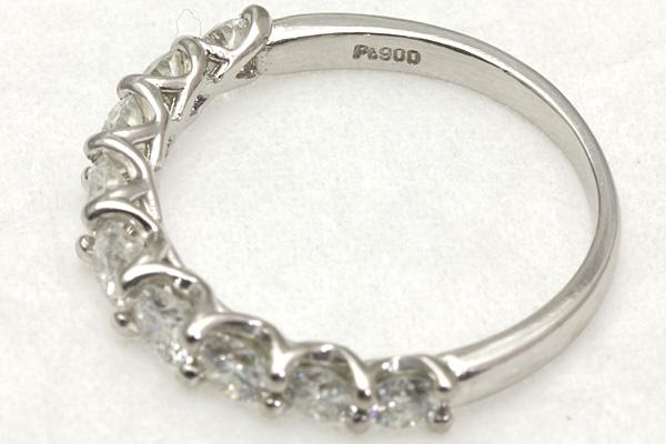 Pt900 ダイヤ 1.00 リング #9 2.7g 磨き済み 送料無料 【Y360】 プラチナ 指輪 中古_画像3