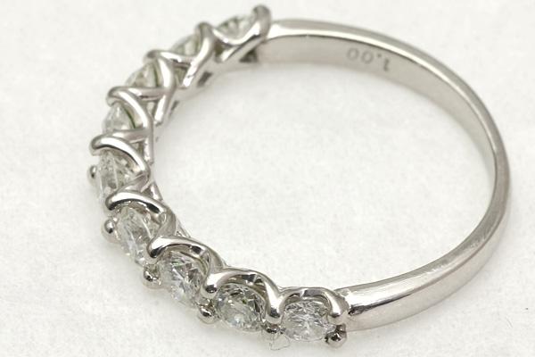Pt900 ダイヤ 1.00 リング #9 2.7g 磨き済み 送料無料 【Y360】 プラチナ 指輪 中古_画像4