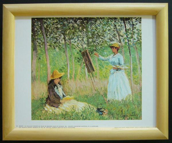 名画ポスター モネ「Monet's Daughter」-新品-即決-_画像1