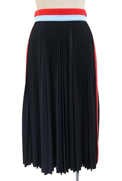 MSGM (エムエスジイエム) プリーツスカート (BK) #38 新品 送料無料 2016秋冬_マネキンは9号サイズですが,少し小さめです