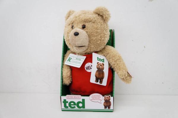 未使用 ted テッド 16インチ しゃべる ぬいぐるみ エプロン 緑タグ 英語Ver グッズの画像