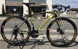 3071【1円売切】Wディスクブレーキ 700C ロード レーサー ロードバイク XC550ブラック/イエロー ユーロバイク 黄 EUROBIKE アウトレット