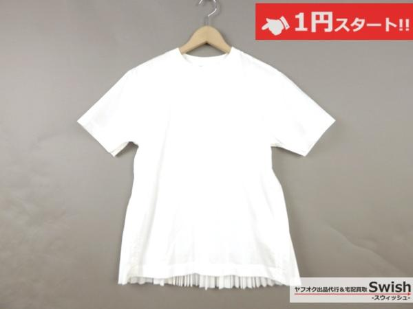 A798●sacai luck サカイ●15SS Pleated Back Tee 半袖 シャツ 2 白●