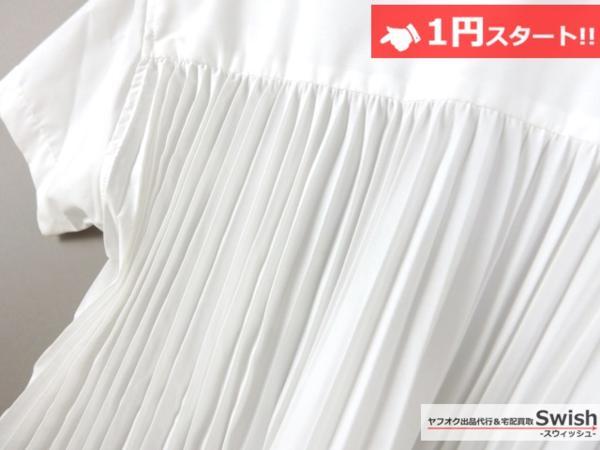 A798●sacai luck サカイ●15SS Pleated Back Tee 半袖 シャツ 2 白●_画像4