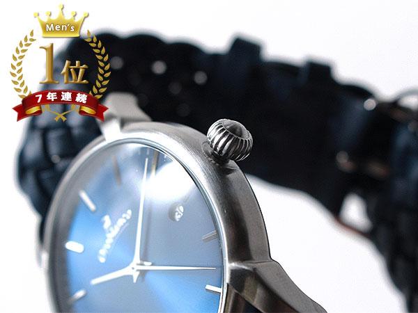 ◆新品未使用品◆Orobianco オロビアンコ 正規品 メンズ 腕時計 3針 日付 /イタリア製ラムレザー革ベルト /紺 青紺文字盤/CINTURINO F1495_画像4