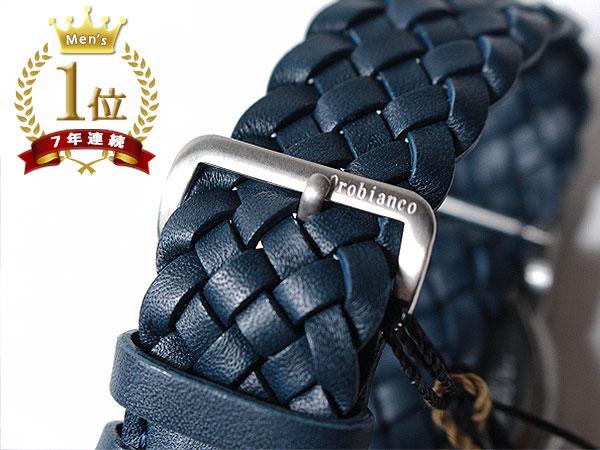 ◆新品未使用品◆Orobianco オロビアンコ 正規品 メンズ 腕時計 3針 日付 /イタリア製ラムレザー革ベルト /紺 青紺文字盤/CINTURINO F1495_画像7