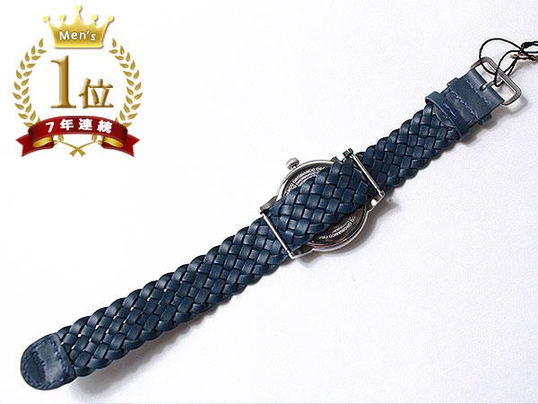 ◆新品未使用品◆Orobianco オロビアンコ 正規品 メンズ 腕時計 3針 日付 /イタリア製ラムレザー革ベルト /紺 青紺文字盤/CINTURINO F1495_画像6