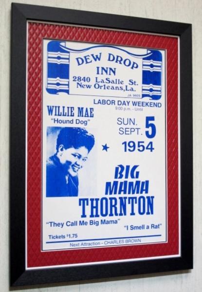 ビッグママ・ソーントン/オリジナル.ハウンドドッグ/ポスター額装/Big Mama Thornton/額付ニューオリンズ・ライブポスター/Hound Dog