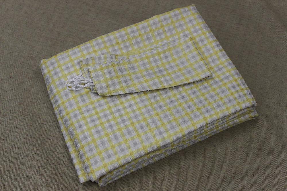 ☆デザインドレープカーテン:100×200cm:2枚 YE×IVブロック/立体織り/形状記憶プリーツ☆421_画像5