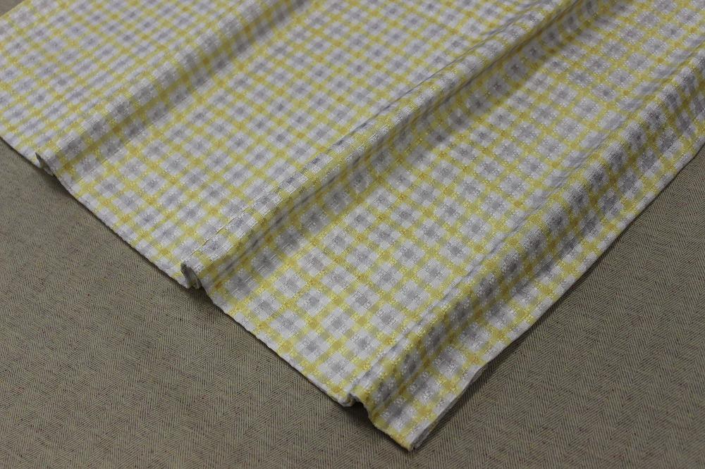 ☆デザインドレープカーテン:100×200cm:2枚 YE×IVブロック/立体織り/形状記憶プリーツ☆421_画像3