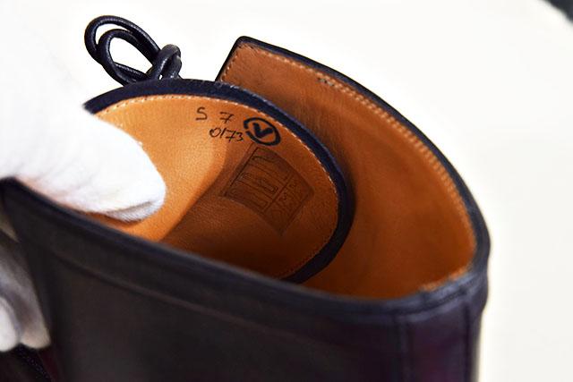 【SBBT】 Berluti  ベルルッティ  ビジネスシューズ ブーツ ♯7 25.5cm ワイン レザーシューズ カリグラフィー 本物 未使用_内側にペンの記入あり