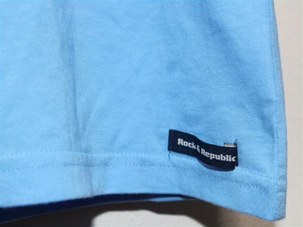 ロック&リパブリック ROCK&REPUBLIC レディース半袖Tシャツ ブルー 新品_画像3