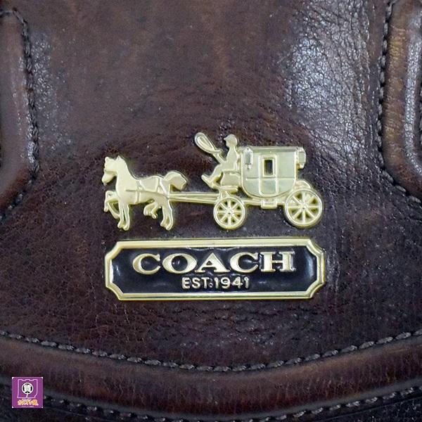 COACH コーチ 14316 2WAY バッグミニボストン レザー ブラウン 収納たっぷり 2WAY ショルダーバッグ ゴールド金具 ハンドバッグ_コーチ 14316 2WAY バッグ