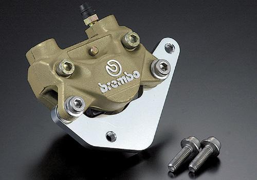 NSR50、NSR80、NSF100 キャリパーサポート ブレンボ製2Pキャスト84㎜ピッチキャリパー専用 AGRAS(アグラス)_ブレンボ製2Pキャスト84㎜Pキャリパーに!