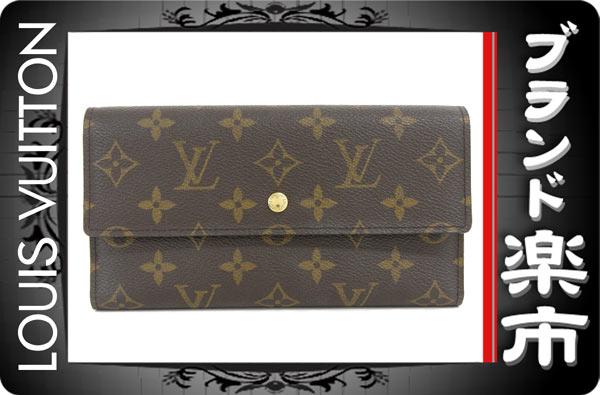 美品 ヴィトン LV モノグラム ポルトフォイユ インターナショナル 三つ折り財布 カード6枚 M61215_画像1