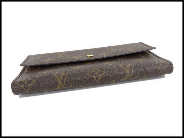 美品 ヴィトン LV モノグラム ポルトフォイユ インターナショナル 三つ折り財布 カード6枚 M61215_画像3