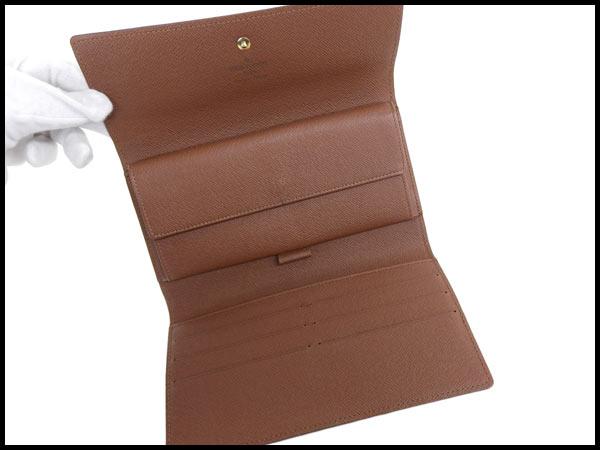 美品 ヴィトン LV モノグラム ポルトフォイユ インターナショナル 三つ折り財布 カード6枚 M61215_画像4
