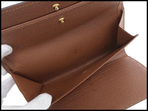 美品 ヴィトン LV モノグラム ポルトフォイユ インターナショナル 三つ折り財布 カード6枚 M61215_画像5