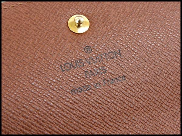 美品 ヴィトン LV モノグラム ポルトフォイユ インターナショナル 三つ折り財布 カード6枚 M61215_画像6