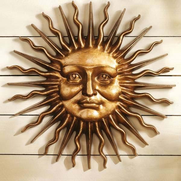 スローン・スクエア公園 サン(人面太陽) グリーンマン壁彫刻 西洋ヨーロッパ様式 インテリアモダンオブジェデコレーション(輸入品)_画像1
