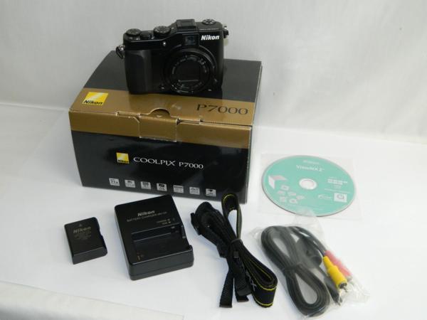 動作品 Nikon ニコン デジタルカメラ COOLPIX P7000 10.1メガピクセル 光学7.0倍 ブラック 付属有り 中古 即決 リサイクルマート半田店_画像1