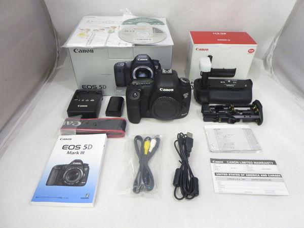 【美品1円】Canon キャノン デジタル一眼レフ AF・AEカメラ EOS 5D Mark Ⅲ ボディ 専用バッテリーグリップ BG-E11付き 2016年メンテ済み