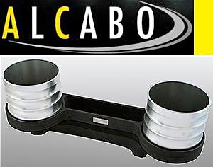 【M's】W211 Eクラス/W219 CLSクラス ALCABO 高級 ドリンクホルダー(シルバー)//灰皿対応品 アルカボ カップホルダー AL-M302S ALM302S_画像1