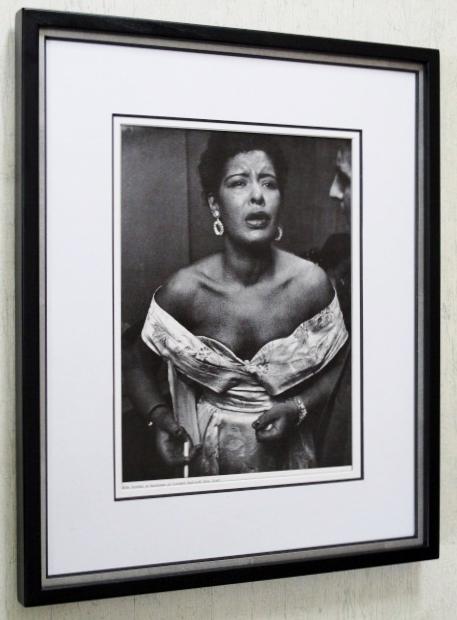 ビリー・ホリディ/アートピクチャー/カーネギー・ホール楽屋/額装/Billie Holiday/トニー・スコット/額入りジャズ/レディ・デイ/Tony Scott