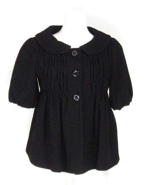 モスキーノチープ&シック 黒シャーリング半袖ジャケット 40