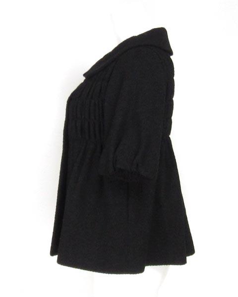 モスキーノチープ&シック 黒シャーリング半袖ジャケット 40 _画像2