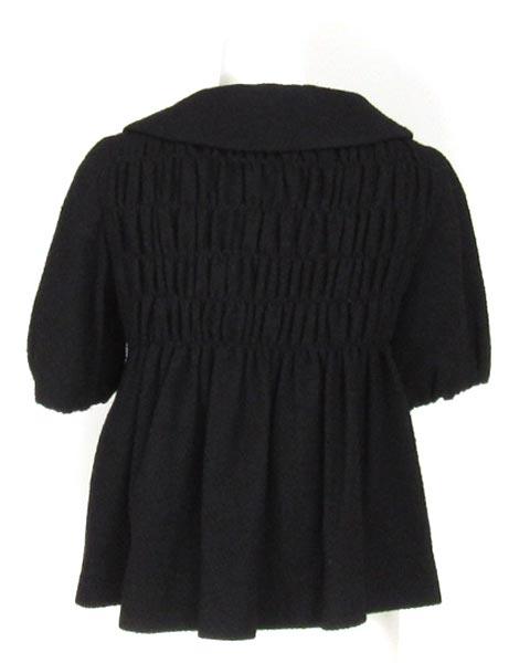 モスキーノチープ&シック 黒シャーリング半袖ジャケット 40 _画像3