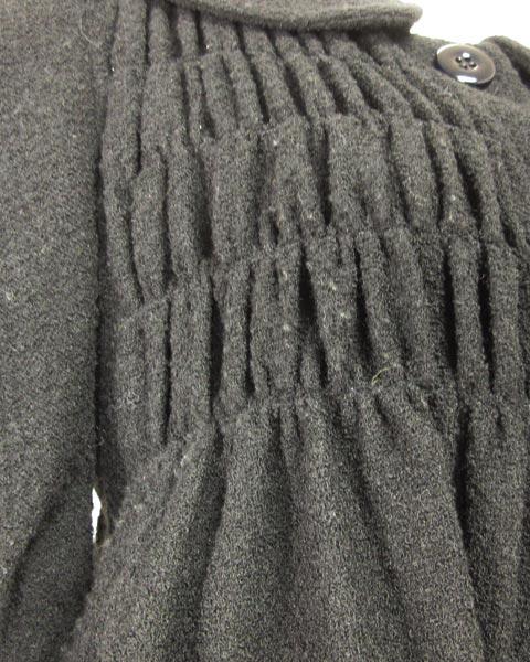 モスキーノチープ&シック 黒シャーリング半袖ジャケット 40 _画像5