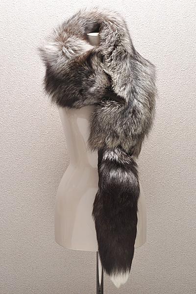 FOX シルバーフォックス 襟巻 ストール マフラー 足 135cm