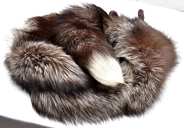 FOX シルバーフォックス 襟巻 ストール マフラー 足 135cm_画像10