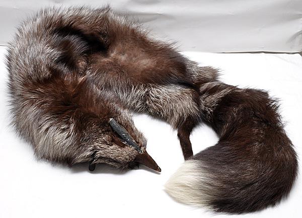 FOX シルバーフォックス 襟巻 ストール マフラー 足 135cm_画像7