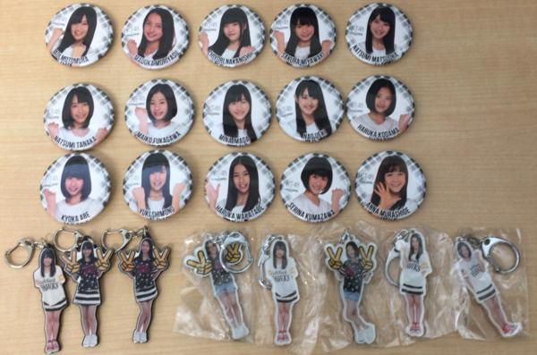 107●○HKT48 softbankHAWKS コラボバッジ 15種&ストラップ 8種 ○●
