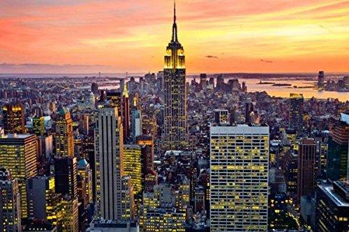kk259 エンパイアステートビル ニューヨークポスター24×36