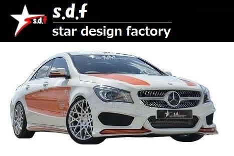 【M's】メルセデス・ベンツ CLA クラス C117 前期 TYPE A エアロ 3点セット s.d.f star design factory Mercedes Benz W117 180 250_画像9