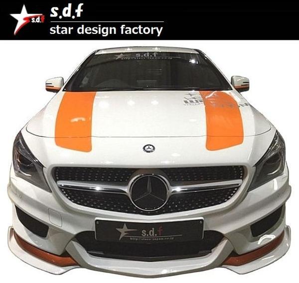 【M's】メルセデス・ベンツ CLA クラス C117 前期 TYPE A エアロ 3点セット s.d.f star design factory Mercedes Benz W117 180 250_画像4
