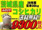 みのりや 送料無料! 28年産 茨城 コシヒカリ 玄米 30kg