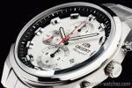 1円 オリエント 正規品 シルバー日本製 1/20秒クロノグラフ 時計