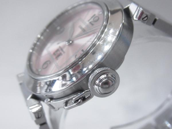 1円~Cartier カルティエ パシャC ビッグデイト ボーイズ オートマ ピンク 本体のみ 腕回り16.5cm 動作OK_画像2