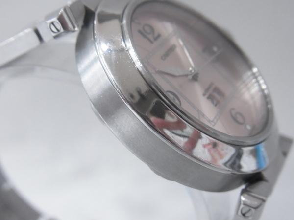 1円~Cartier カルティエ パシャC ビッグデイト ボーイズ オートマ ピンク 本体のみ 腕回り16.5cm 動作OK_画像3