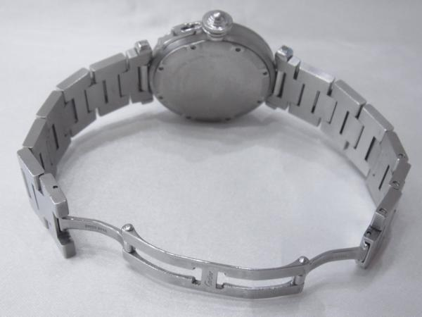 1円~Cartier カルティエ パシャC ビッグデイト ボーイズ オートマ ピンク 本体のみ 腕回り16.5cm 動作OK_画像4